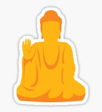 Golden Buddha Statue meditating Sticker