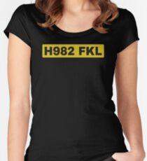 H982 FKL License plate Women's Fitted Scoop T-Shirt