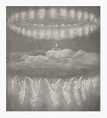 Gustave Dore, Illustration for Paradiso, Paradise, Heaven, Heavenly, Angels Photographic Print