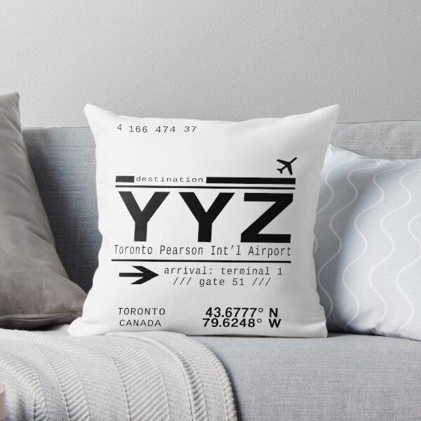 YYZ Toronto Pearson International Airport Throw Pillow