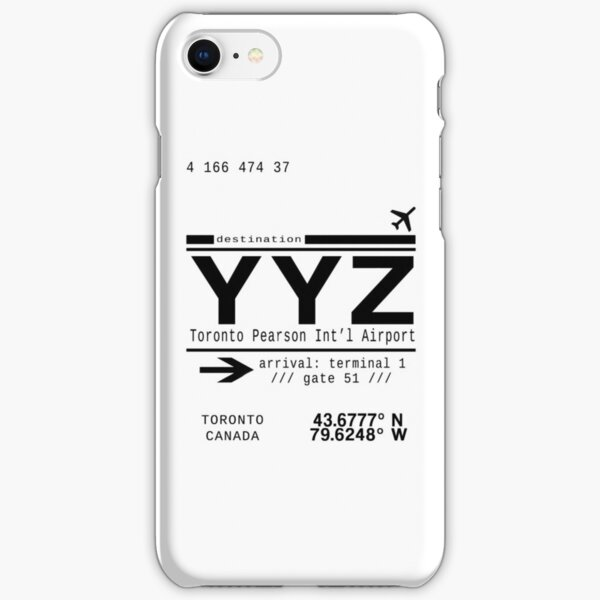 YYZ Toronto Pearson International Airport iPhone Snap Case