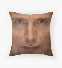 Mads Mikkelsen Face Throw Pillow Throw Pillow