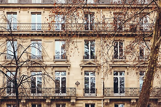 Traditional French Architecture with Typical Windows by dariazu