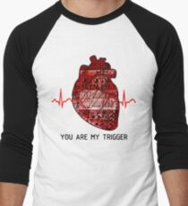 You Are My Trigger (Black) Men's Baseball ¾ T-Shirt