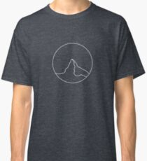 Matterhorn: Minimalist Mountain Fine Lines With Shadow Classic T-Shirt