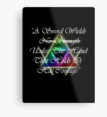 Legend of Zelda, Courage Metal Print