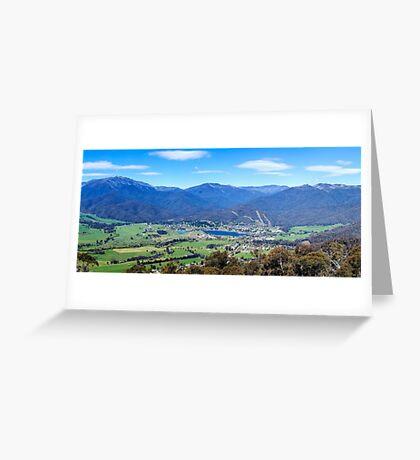 Mount Beauty Panorama Greeting Card