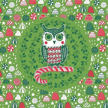 Festive Owl by JMHurd