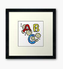 cartoon ABC letters Framed Print