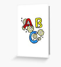 cartoon ABC letters Greeting Card