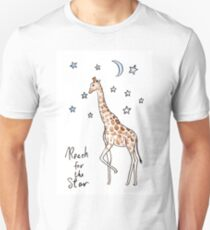 Reach for the star Giraffe T-Shirt