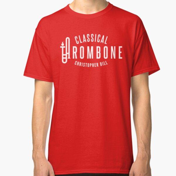 Classical Trombone Full White Logo Classic T-Shirt