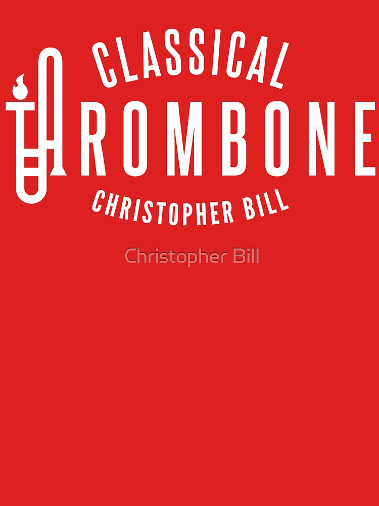 Classical Trombone Full White Logo by cbleezy