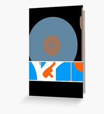 Peace Turntable Vinyl Record Greeting Card