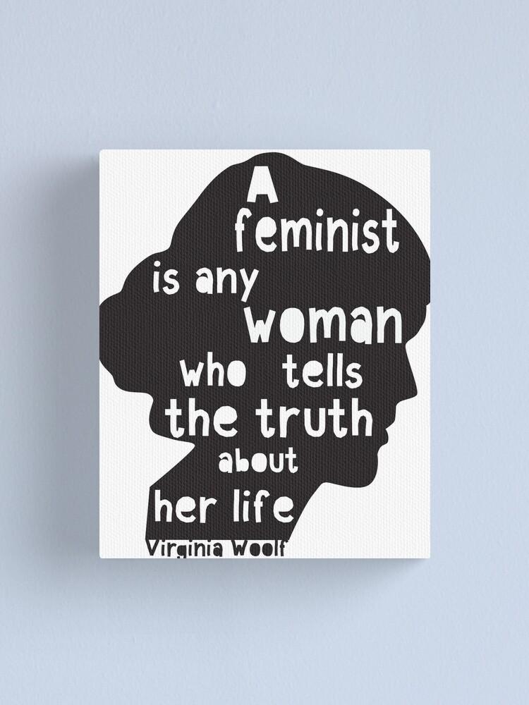 Impression Sur Toile Virginia Woolf Citation Feministe Par