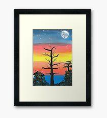 NIGHT SKY SUNSET Framed Print