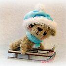 Teddy Bear Orphans 'Crispin' Christmas Snow Bear Xmas by Penny Bonser