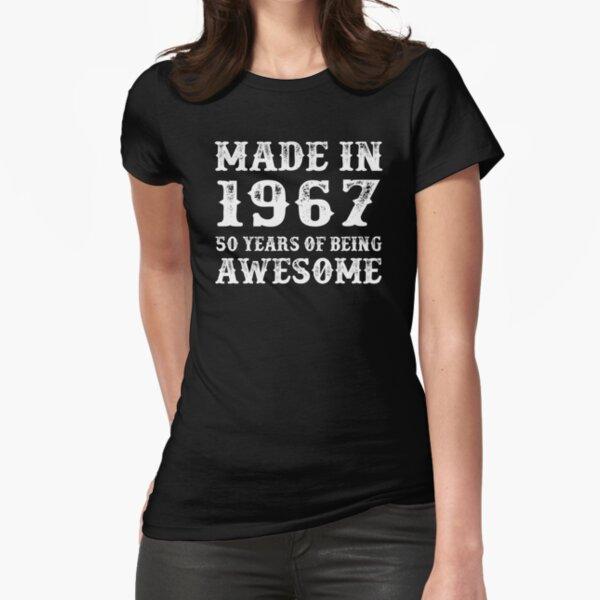 1967 wurden 50 Jahre genial gemacht Tailliertes T-Shirt