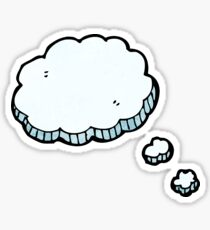 cartoon thought bubble Sticker