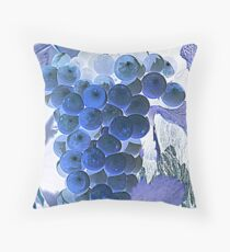 ripe grape vineyard will Throw Pillow