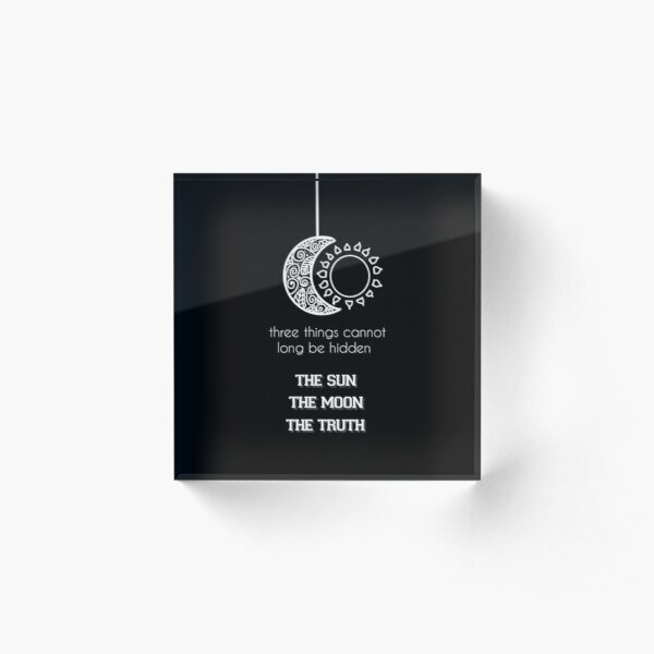 Supernatural - Teen Wolf Quote Acrylic Block