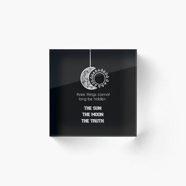Supernatural - Citation de Teen Wolf Bloc acrylique