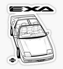 Nissan Exa Action Shot Sticker