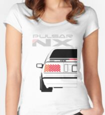 Nissan NX Pulsar Coupe - White Women's Fitted Scoop T-Shirt