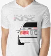 Nissan NX Pulsar Coupe - White Men's V-Neck T-Shirt