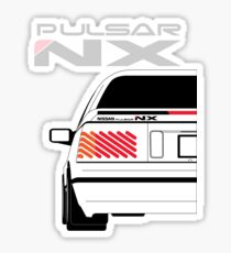 Nissan NX Pulsar Coupe - White Sticker