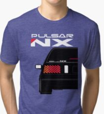 Nissan NX Pulsar Sportback - Black Tri-blend T-Shirt