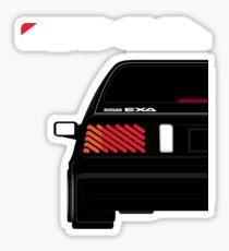 Nissan Exa Sportback - Black Sticker