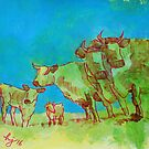 Herd of Cows painting by MikeJory