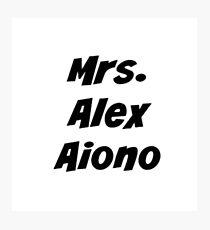 Mrs. Alex Aiono Photographic Print