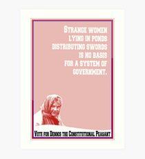 Dennis Monty Python (card) Art Print