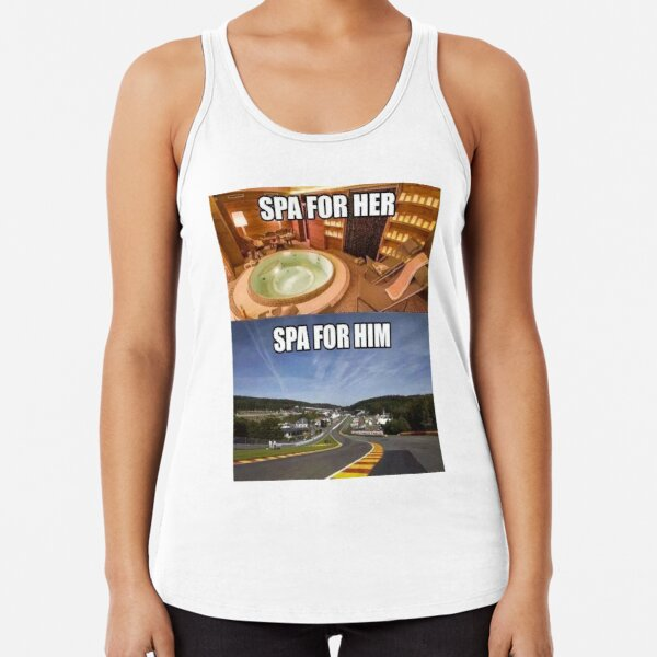 Spa for Him & Spa for Her Racerback Tank Top