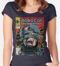 Robocop Comic Women's Fitted Scoop T-Shirt