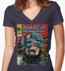 Robocop Comic Women's Fitted V-Neck T-Shirt