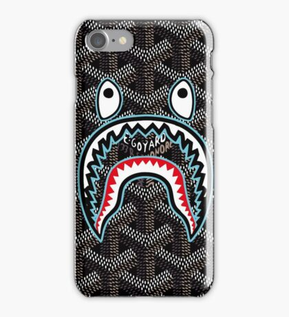 bape goyard black iPhone Case/Skin