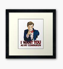 Doctor Who Uncle Sam Framed Print