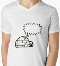 cartoon igloo Men's V-Neck T-Shirt
