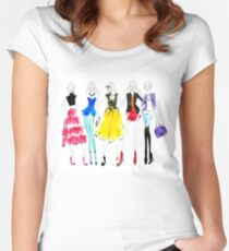 Girls night out Women's Fitted Scoop T-Shirt