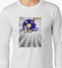 Music Collage Rays Long Sleeve T-Shirt