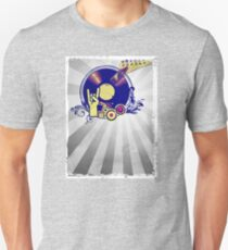 Music Collage Rays Unisex T-Shirt