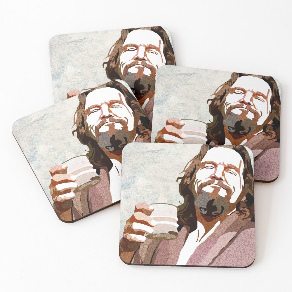 Big Lebowski DUDE Portrait Coasters (Set of 4)