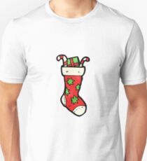cartoon christmas stockings Unisex T-Shirt
