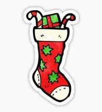 cartoon christmas stockings Sticker
