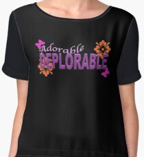 Adorable DEPLORABLE Women's Chiffon Top