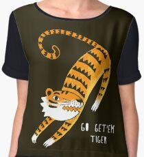 Go get'em Tiger Women's Chiffon Top