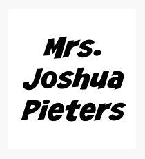 Mrs. Joshua Pieters Photographic Print